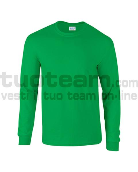 GL2400 - Ultra Cotton Maglia G/C-M/L 100% Cot. 205 gr/m2 - Irish Green