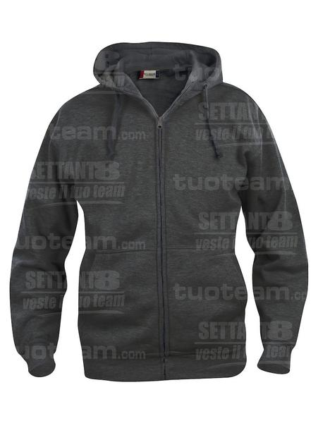 021034 - FELPA Basic Hoody Full zip Men's - 955 antracite melange