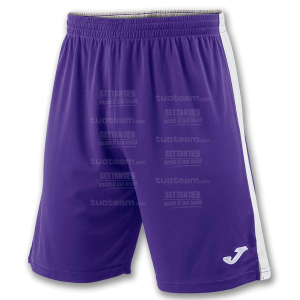 100684 - TOKIO II SHORT 100% polyester interlock - VIOLA/BIANCO