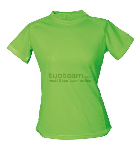 99381 - T-Shirt Montevideo Lady - GREENFLUO