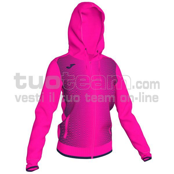 900891 - FELPA FULL ZIP 100% polyester tricot - 033 FUCSIA FLUOR / NERO