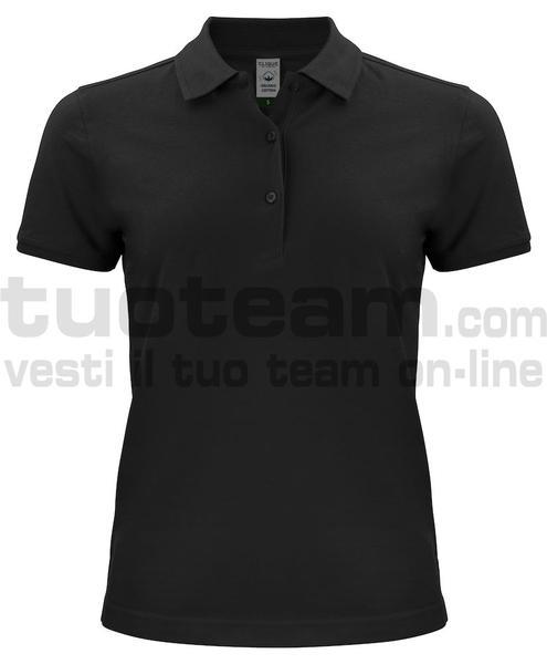 028265 - Organic Cotton Polo Lady - 99 nero
