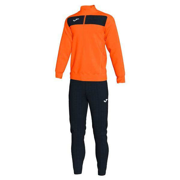 101352 - ACADEMY III TUTA 100% polyester fleece - 801 ARANCIO FLUOR / NERO