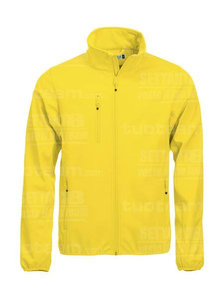 020910 - GIACCA Basic Softshell Jacket Men - 10 giallo limone