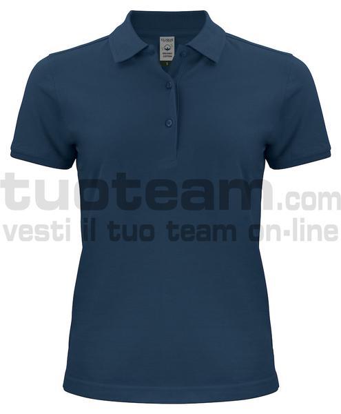 028265 - Organic Cotton Polo Lady - 580 blu navy