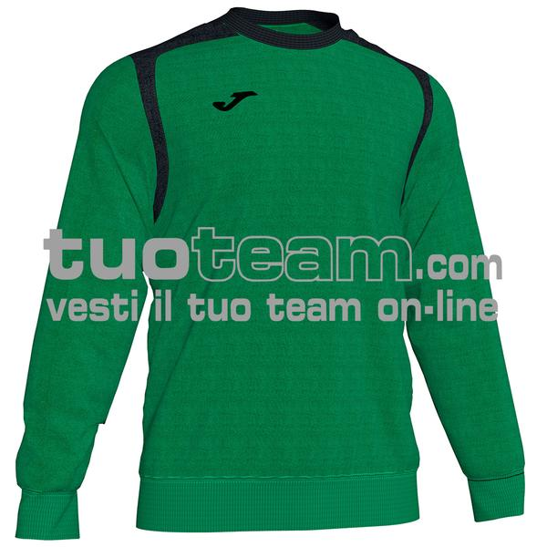 101266 - FELPA CHAMPION V girocollo 100% polyester fleece - 451 VERDE / NERO