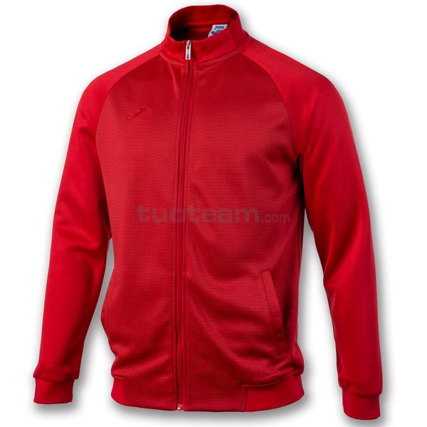 101064 - ESSENTIAL GIACCA FULL ZIP 100% polyester interlock - 600 ROSSO