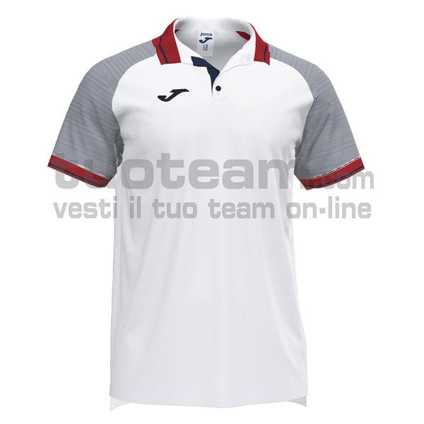 101509 - ESSENTIAL II POLO 100% polyester interlock - 203 BIANCO / DARK NAVY