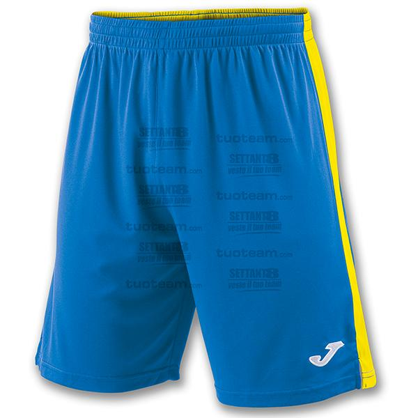 100684 - TOKIO II SHORT 100% polyester interlock - BLU ROYAL/GIALLO