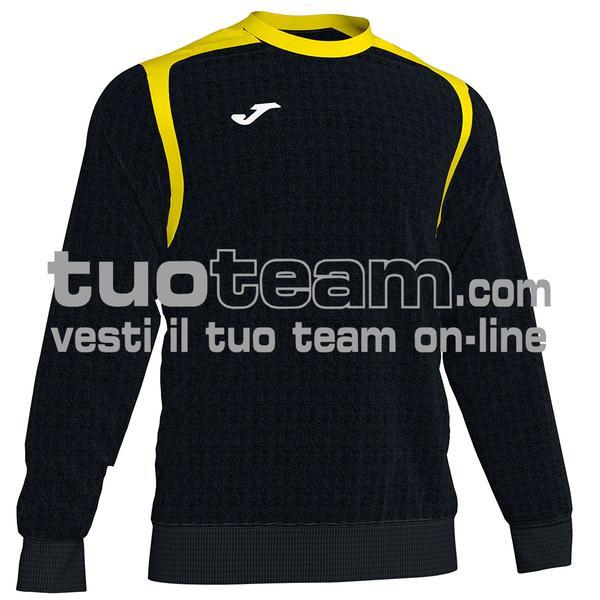 101266 - FELPA CHAMPION V girocollo 100% polyester fleece - 109 NERO / GIALLO
