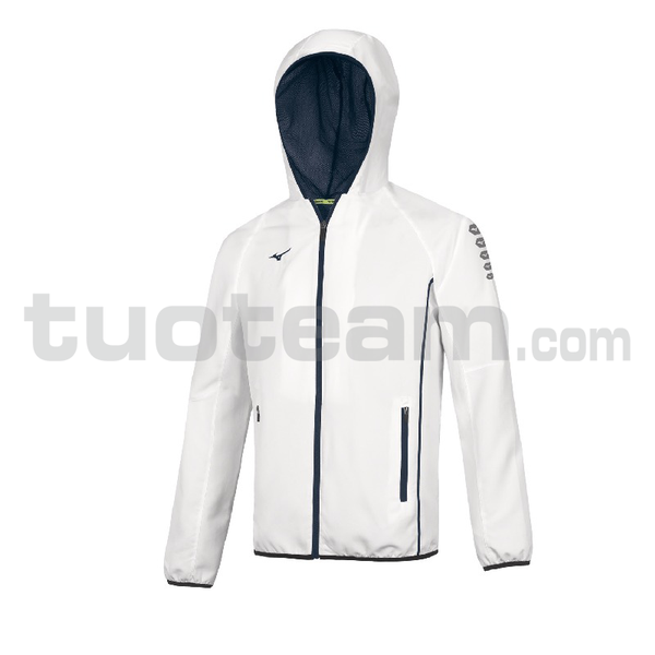 32EE7002 - Micro Jacket Hooded - White/Royal