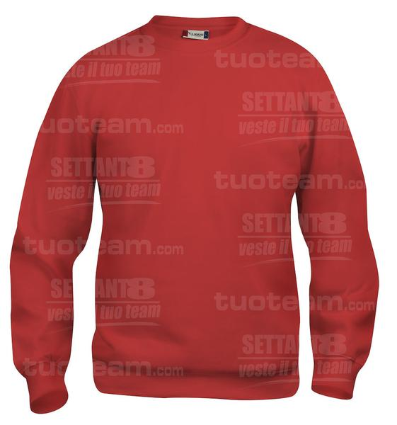 021020 - FELPA Basic Roundneck Junior - 35 rosso