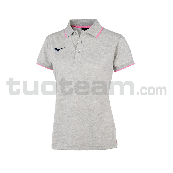 32EA7241 - polo W - Heather Grey/Navy