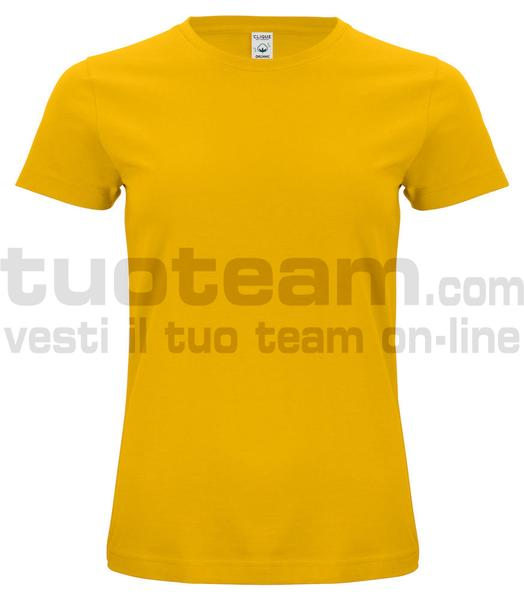 029365 - Organic Cotton T-shirt Lady - 10 giallo limone