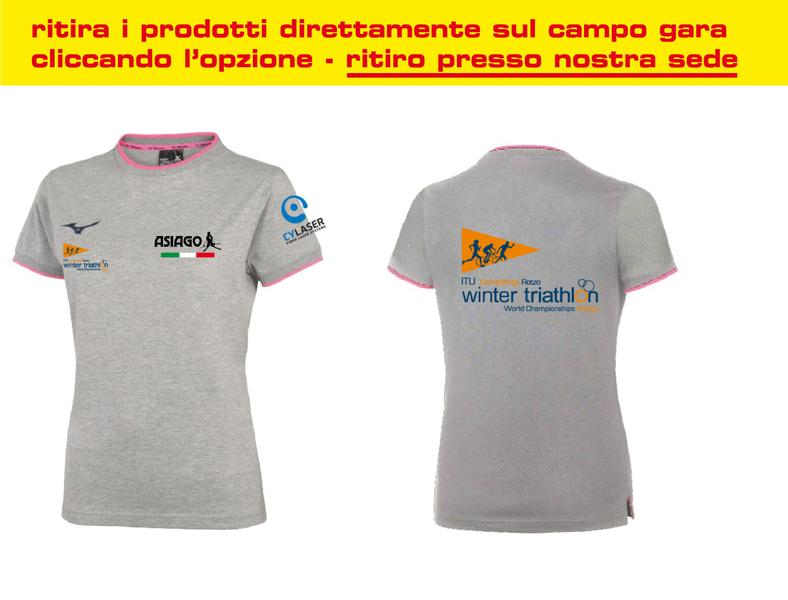 BD1800052 - T shirt Donna World Championship Winter Triathlon