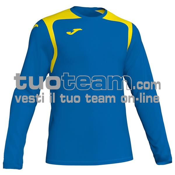 101375 - CHAMPIONSHIP V MAGLIA ML 100% polyester interlock - 709 ROYAL / GIALLO