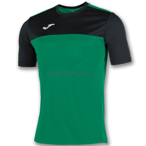 100946 - WINNER MAGLIA MC 100% polyester interlock - 401 VERDE FLUOR / NERO