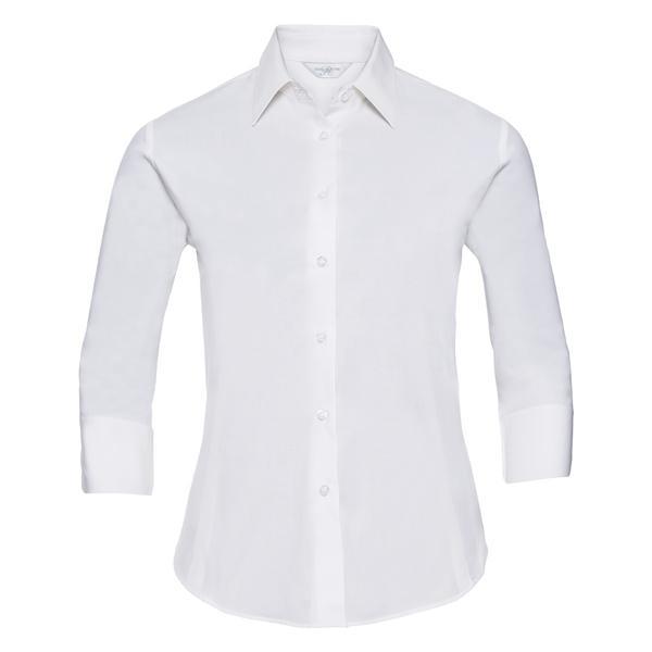 JE946F - CAMICIA ATTILLATA MANICA 3/4 - white