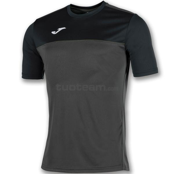 100946 - WINNER MAGLIA MC 100% polyester interlock - 151 ANTRACITE / NERO