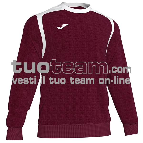 101266 - FELPA CHAMPION V girocollo 100% polyester fleece - 672 BORDEAUX/NERO