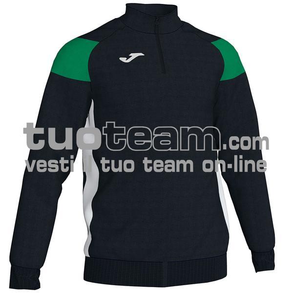 101272 - FELPA 1/2 ZIP 100% polyester fleece - 104 NERO/VERDE/BIANCO