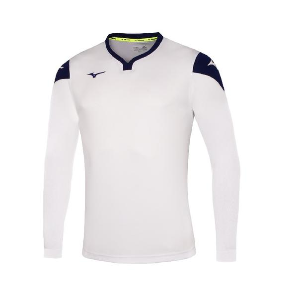 P2EA8900 - GAME SHIRT RUNBIRD L/S JUNIOR - White/Royal