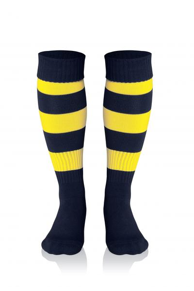 0022281 - CALZA DOUBLE STRIPED - NERO / GIALLO