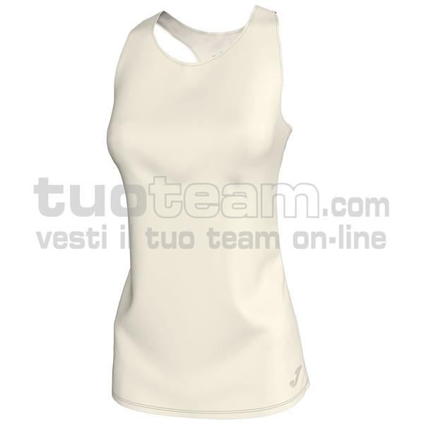 900857 - CANOTTA 80% polyester interlock 20% elastan - 224 BIANCO PANNA