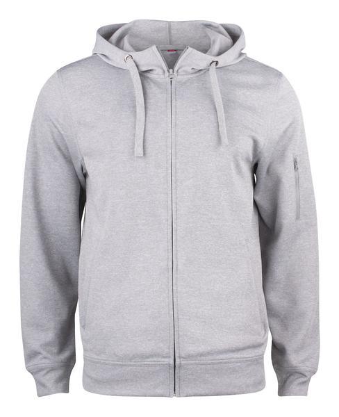 021014 - Basic Active Hoody Full Zip - 95 grigio melange