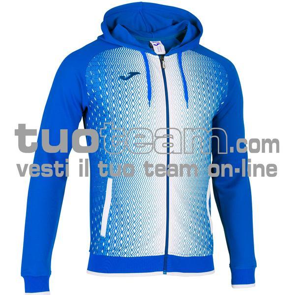 101285 - FELPA FULL ZIP 100% polyester tricot - 702 ROYAL / BIANCO
