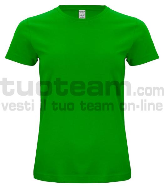 029365 - Organic Cotton T-shirt Lady - 605 verde acido