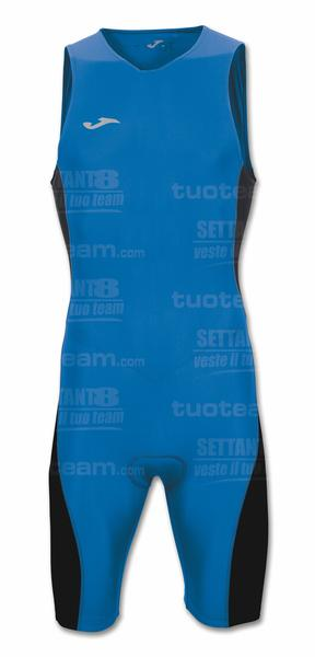 100538 - RACE MONO TRIATHLON SMANICATO - BLU ROYAL/NERO