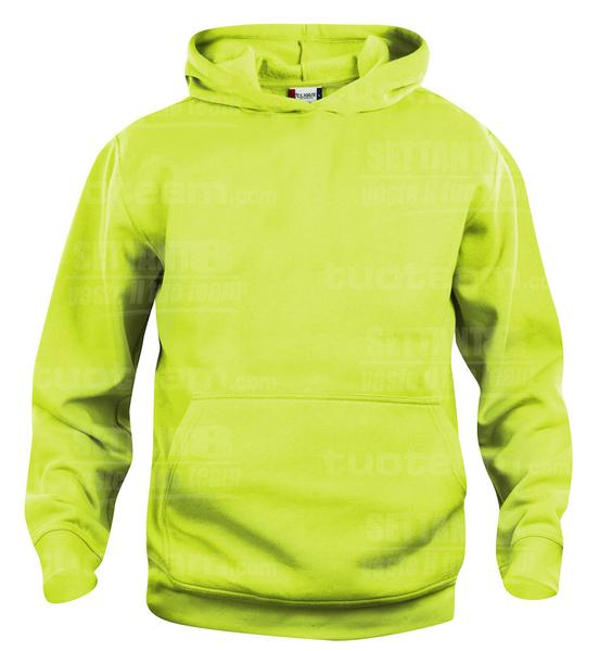 021021 - FELPA Basic Hoody Junior - 600 verde intenso