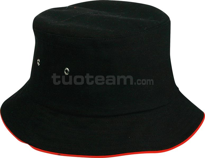K18023 - CAPPELLINO TREND CON PIPING / PIPING TREND CAP - NERO