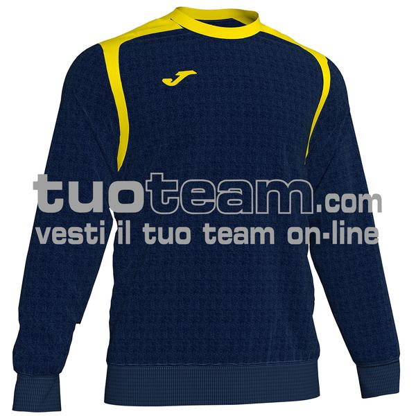 101266 - FELPA CHAMPION V girocollo 100% polyester fleece - 339 BLU NAVY/GIALLO