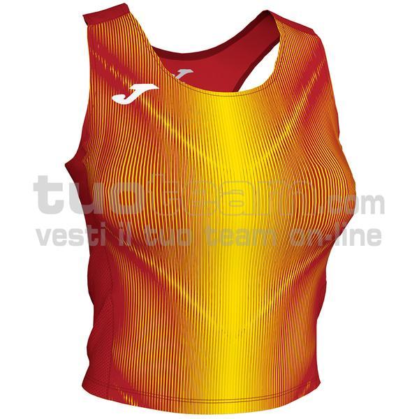 900935 - OLIMPIA WOMAN TOP 95% polyester 5% elastane - 609 ROSSO / GIALLO