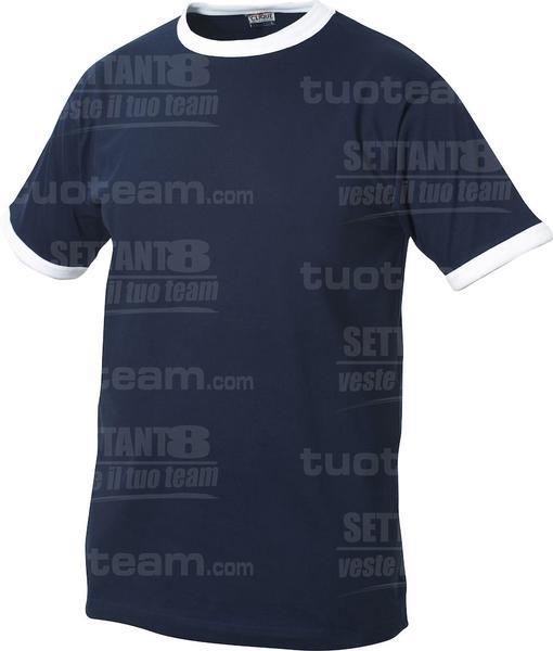 029304 - T-SHIRT Nome Kids - 5800 navy/bianco