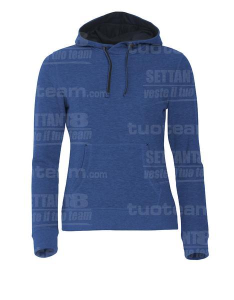 021042 - FELPA Classic Hoody Ladies - 565 blu melange