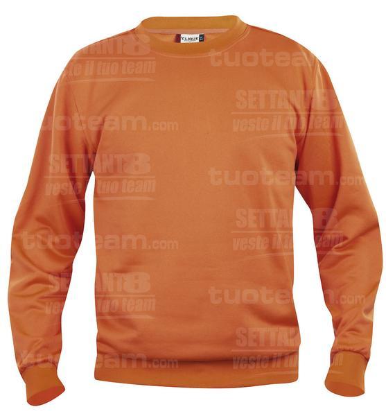 021030 - FELPA Basic Roundneck - 18 arancione