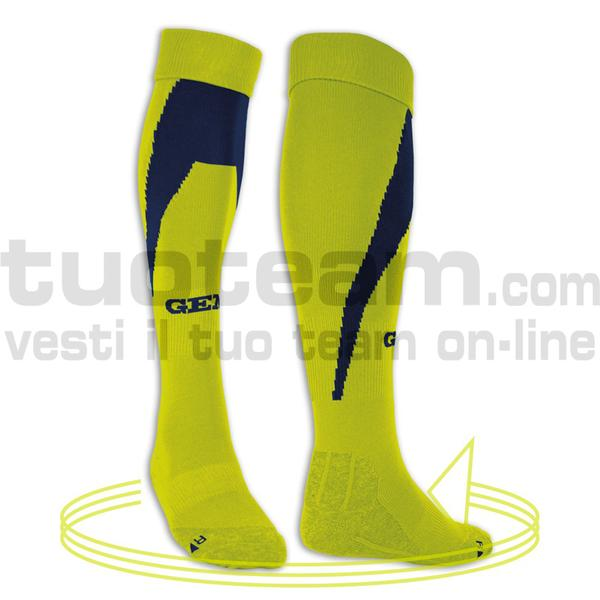 MH02 - Calza Queens - YELLOWFLUO/NAVYBLUE
