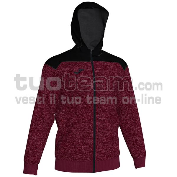 101283 - WINNER II FELPA WINNER II FULL ZIP 80% cotton 20% polyester - 672 BORDEAUX/NERO