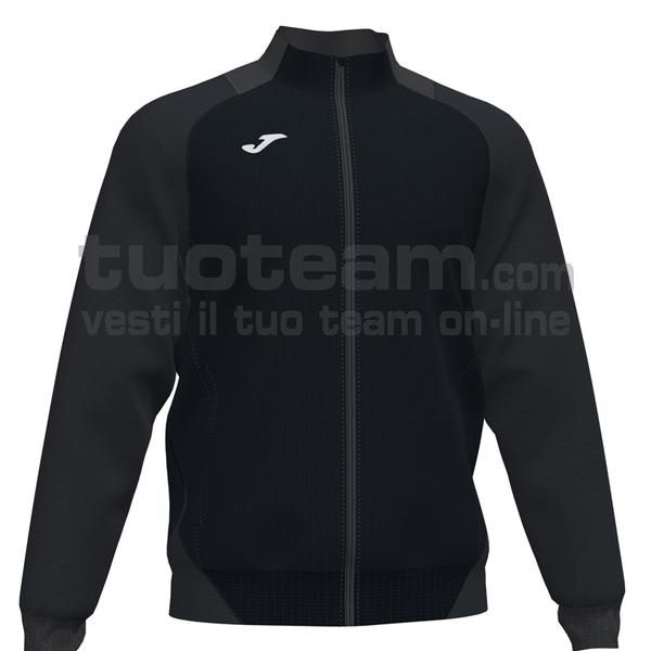 101535 - ESSENTIAL II FELPA FULL ZIP 100% polyester interlock - 110 ANTRACITE / NERO
