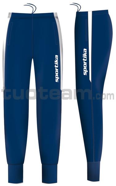 7447 - pantalone BREMA - BLU / BIANCO