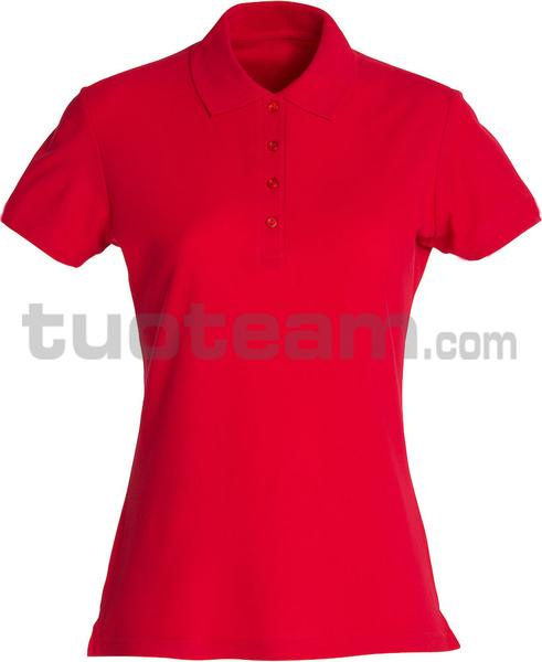 028231 - polo basic lady - 35 rosso