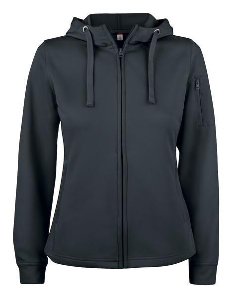 021015 - Basic Active Hoody Full Zip Lady - 99 nero