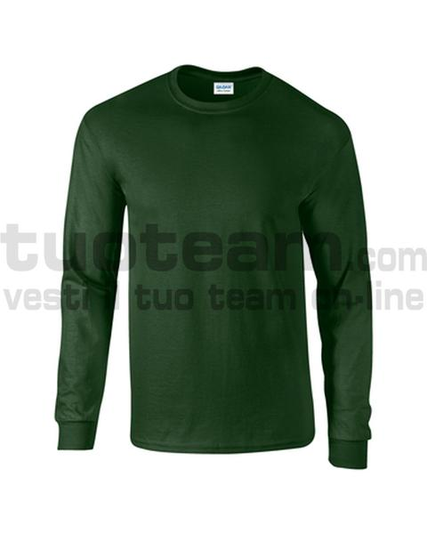 GL2400 - Ultra Cotton Maglia G/C-M/L 100% Cot. 205 gr/m2 - Forest Green