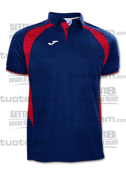100018 - POLO M/C CHAMPION III - 306 BLU NAVY/ROSSO