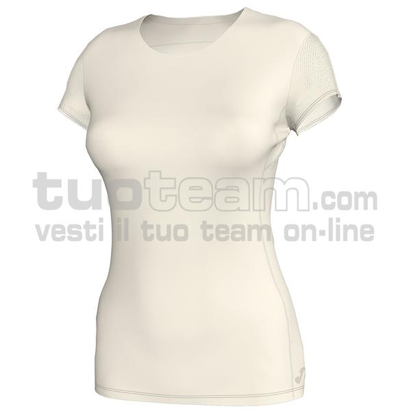 900860 - MAGLIA MC 80% polyester interlock 20% elastan - 224 BIANCO PANNA