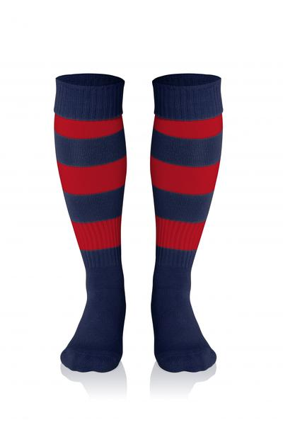 0022281 - CALZA DOUBLE STRIPED - RED/BLUE