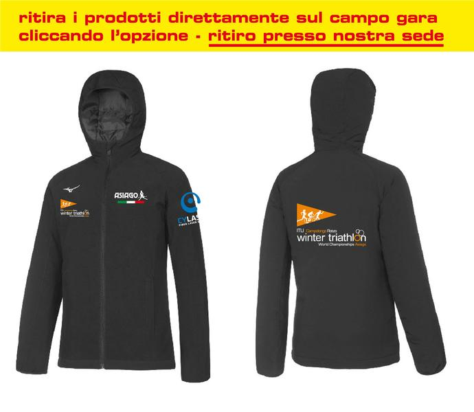 BD1800058 - Giacca Antivento Nera World Championship Winter Triathlon